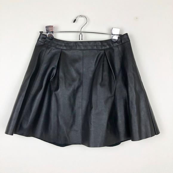Forever 21 Dresses & Skirts - Forever 21 Black Faux Leather A Line Skirt
